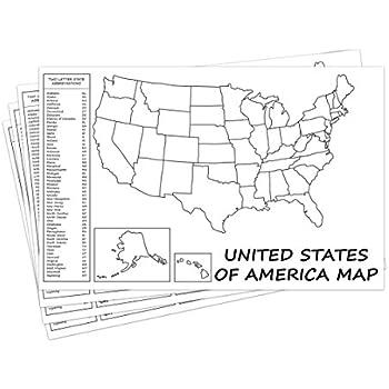Amazon Com United States Map Usa Poster Us Educational Map