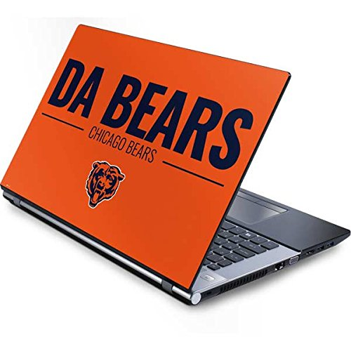 - Skinit Chicago Bears Team Motto Generic 15.4in Laptop Skin - Officially Licensed NFL Laptop Decal - Ultra Thin, Lightweight Vinyl Decal Protection