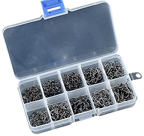 Fishing Hooks 500pcs//set Mixed Size #3-12 High Carbon Steel Carp Pack With Hole