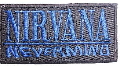 Nirvana Nevermind azul Logo bordado hierro en coser en parche aprox: 4.1