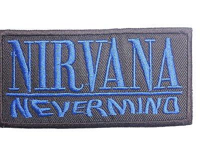 5.08 cm//5 cm von SSLINK 10,4 cm x ca. NIRVANA Nevermind Blau-Logo-gesticktes B/ügelbild Patch 10.41 cm//ca