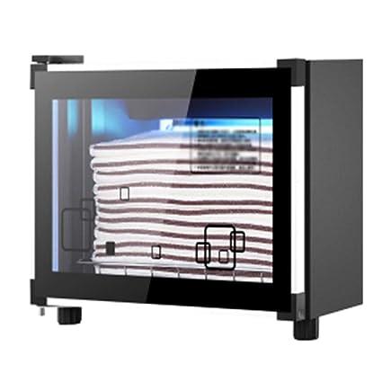 Gabinete De Desinfección De Toallas Para El Hogar 38F Salón De Belleza Negro 36L Pequeño Ultravioleta