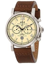 "AVI-8 Men's AV-4015-03 ""Hawker Hurricane"" Stainless Steel Watch with Leather Band"