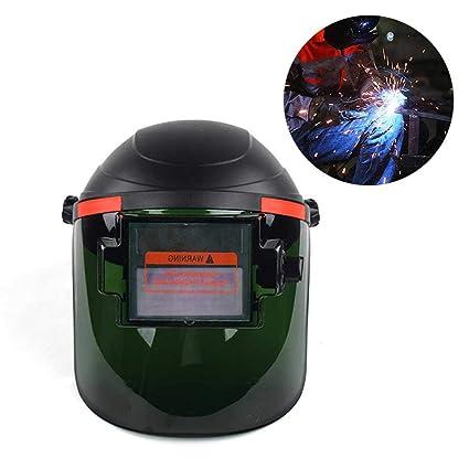 AOLVO Casco de Soldadura con energía Solar, oscurecimiento automático, máscara de Soldador con Capucha