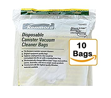 kenmore vacuum bags 50403. kenmore disposable canister vacuum cleaner bags 50403, 10-count 50403 0