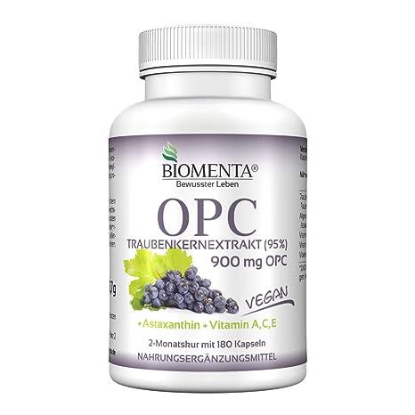 Biomenta Extracto de semilla de uva OPC - con 900 mg opc dosis alta (95