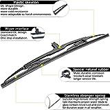 For BMW X5 E53 1999-2006 Rear Windshield back Wiper Arm Blade Set, OE:61627068076