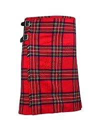 SHYNE_ENTERPRISES Royal Stewart Men's 5 Yard Scottish Kilts Tartan Kilt 13oz Highland Casual Kilt
