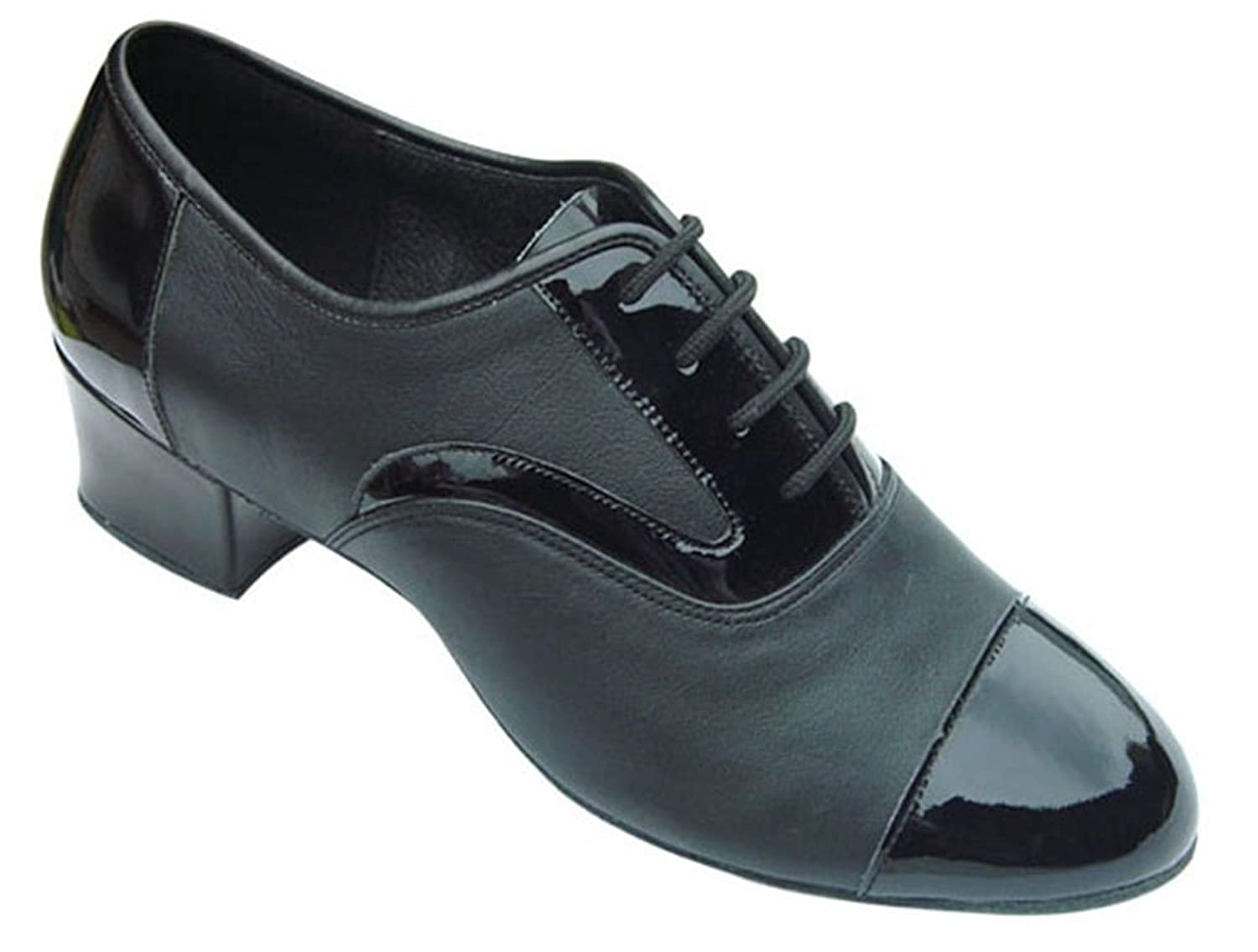 Retro Style Dance Shoes Mens Ballroom Salsa Wedding Competition Dance Shoes The Edward 1 Heel $74.99 AT vintagedancer.com