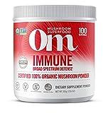 Om Organic Mushroom Nutrition Supplement, Immune: Promotes Healthy Immune System, 100 servings, 7.14 Ounce, 200 Gram