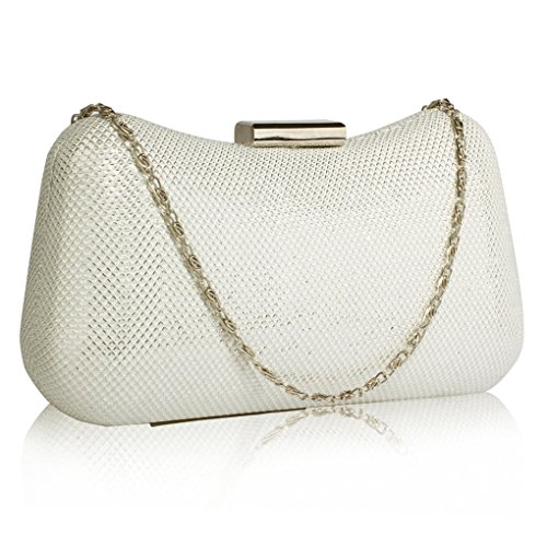 Out Night Evening For CWE00286 Bag Clutch Prom Women's Pary Ivory LeahWard Purse Sparkly n4EqwxHP8z