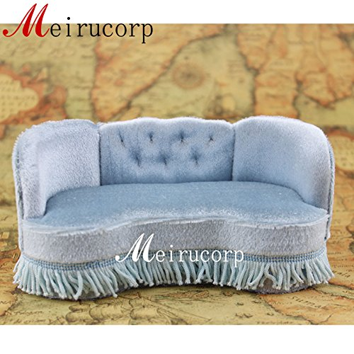 Meirucorp Fine Miniature Furniture 1/12 Scale Handcrafted Sofa for Dollhouse