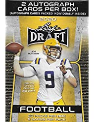 2020 LEAF NFL DRAFT Series Factory Sealed Blaster Box with 2 Autographed Cards and a Chance for Joe Burrow, Tua Tagovailoa, Jalen Hurts and Other Rookies