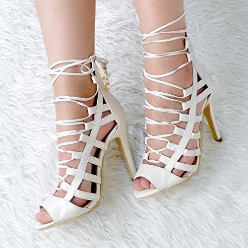 Damen Mode Toe Heel Cut Sommer Peep Handgefertigte Out High Sandalen Kolnoo Schuhe dHpnfqd