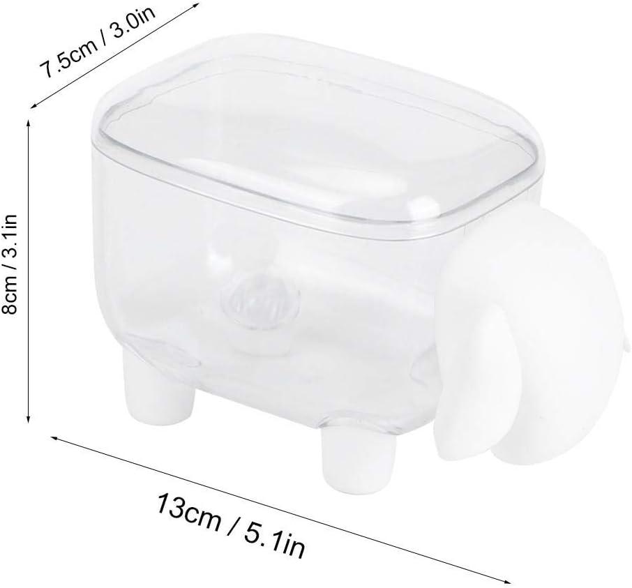 Non Toxique Zwindy Bo/îte de Rangement Mignon Petit Article pour Coton-Tige Cure-dent Trombone Papeterie Maquillage Coton Durable. Blanc