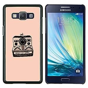TECHCASE---Cubierta de la caja de protección para la piel dura ** Samsung Galaxy A5 ( A5000 ) 2014 Version ** --cámara de durazno fotografía negro retro