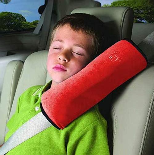 Hangqiao Coussin Oreiller de s/écurit/é Automobile pour les enfants Sangle Epaule Sommeil Gris