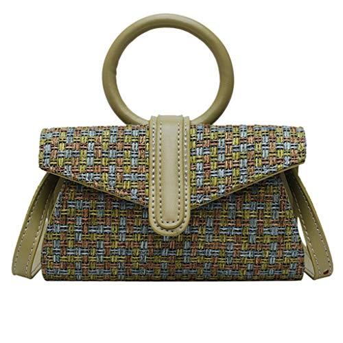 - KIM88 Crossbody Bag for Women Travel Purse Handbag Wallet Messenger Bag Woven Bag Woven Waist Bag Woven Shoulder Bag Green