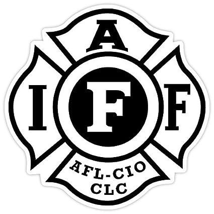 51ecb918b0cb1 Amazon.com  Fire Fighters International Association IAFF Sticker Decal  Vinyl 4