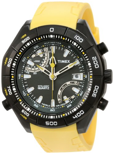 (Timex Men's T2N730 Intelligent Quartz Adventure Series Altimeter Yellow Rubber Strap Watch)