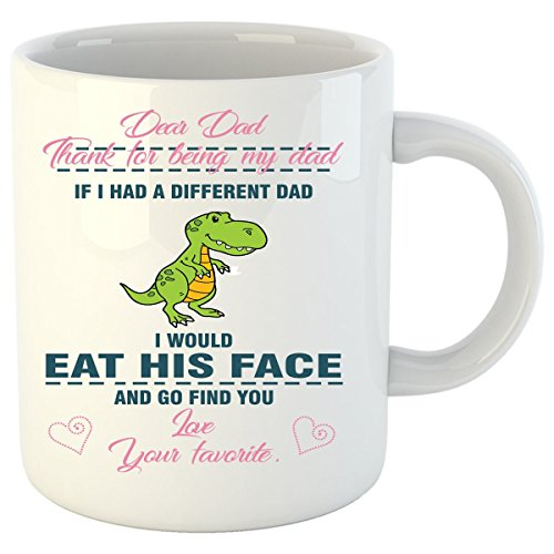 Velociraptor Costume In Office (Dinosaur Mug, Father Gifts - White 11 Oz Mug)