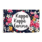 Kappa Kappa Gamma Sorority 3′ x 5′ Floral Flag Banner Sign Decor KKG For Sale