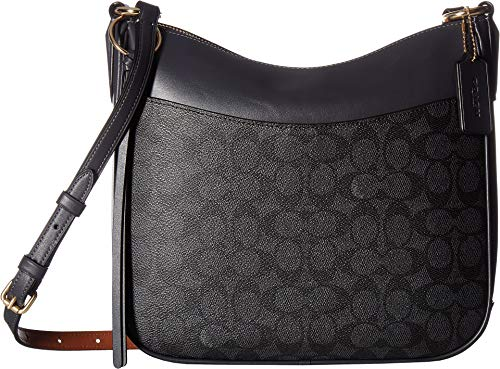 - COACH Women's Coated Canvas Signature Chaise Crossbody Gold/Charcoal Midnight Navy One Size