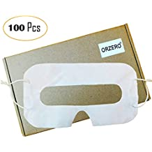 [100 Pack] Orzero VR Disposable Sanitary White Eye Mask for Virtual Reality Headset for Gear VR Oculus Rift HTC Vive PlayStation VR/HTC VIVE Pro