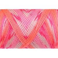 WOA Fashions Acrylic Hand Knitting Yarn - Pack of 2 (Multi Pink Orange)