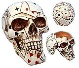 Ky & Co YesKela Poker Face Playing Cards Utility Keepsake Jewelry Box 6.5'' Long Figurine Skull