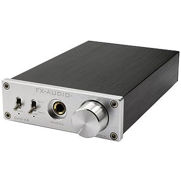FX Audio DAC-X6 24BIT/192 - Amplificador de Audio Digital (óptico/coaxial/USB, decodificador DAC), Color Plateado: Amazon.es: Electrónica