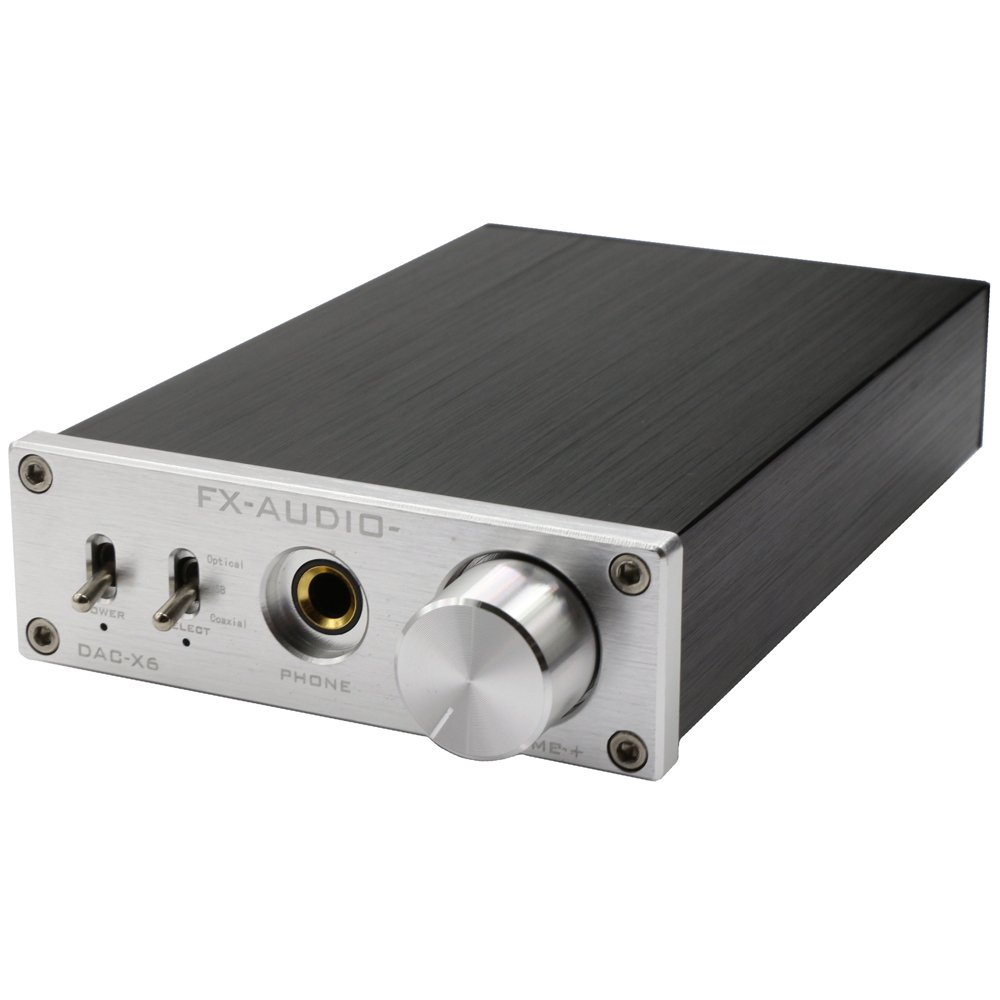 FX Audio DAC-X6 24BIT/192 Optical/Coaxial/USB Digital Audio Amplifier DAC Decoder (Silver)