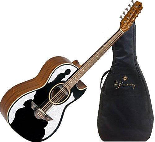 H Jimenez Bajo Quinto LBQ4EBT Black Acoustic Electric Guitar with Gig Bag