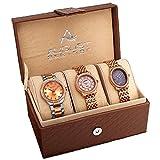 August Steiner Women's AS8063RG Dazzling Diamond Swiss Quartz 3 Watch Set