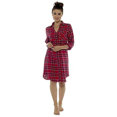 c143abf683 Womens Foxbury Brushed 100% Cotton Traditional Button Nightshirt Nightie  LN836  Amazon.co.uk  Clothing