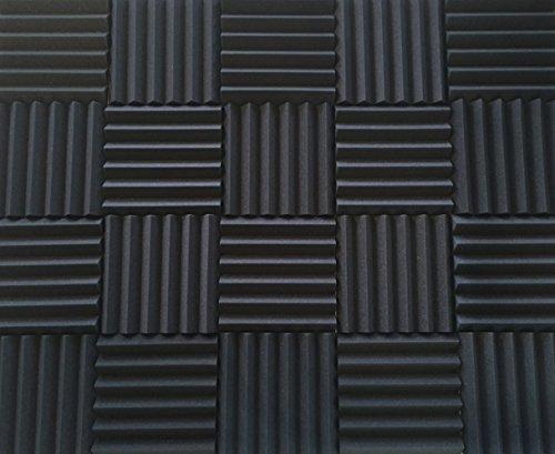 Espuma de insonorización acústica Studio Kit | Wedge Paneles Estilo | 5,1x 30,5x 30,5cm Azulejos | 4Pack Bundle |...