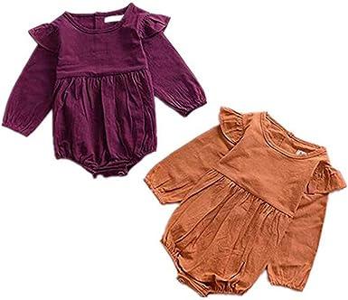 Bonnet DAY8 Pyjama Bebe Fille Automne Deguisement Halloween Costume V/êtement Bebe Gar/çon Hiver Habit Ensemble Bebe Fille Pas Cher Top Barboteuse Body Bebe Fille Manche Longue