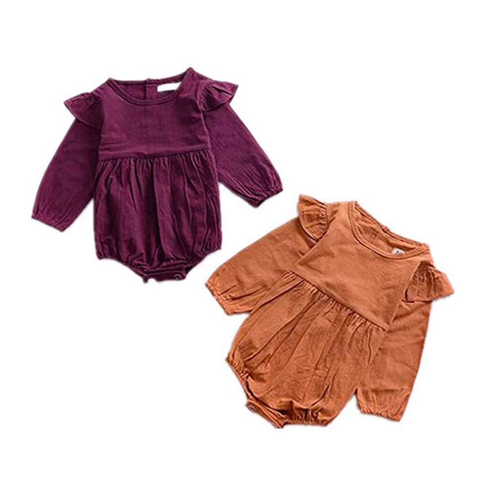 LHWY Baby Overall Winter Neugeborenes Kleinkind Baby Kind M/ädchen Langarm Elegant Jumpsuit Outfit Rundhals