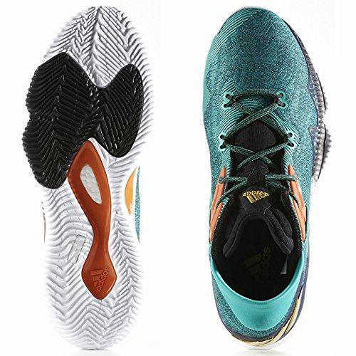 adidas Crazylight Boost Lo, Scarpe da Basket Uomo Multicolore (Goldmt/Cblack/Ftwwht)