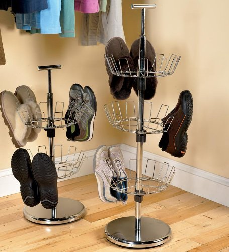 Three Tier Steel Revolving Shoe Tree