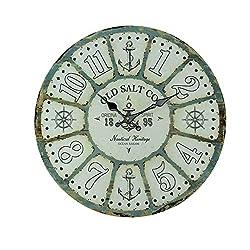 Chesapeak Bay Ltd. Old Salt Co Weathered Wood Nautical Wall Clock