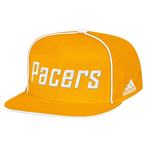 Indiana Pacers Cap - NBA Indiana Pacers Men's Fanwear Team Flat Brim Snapback Cap, One Size, Gold