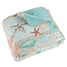 Lavish Home 66-10059-FQ 3 Piece Quilt Set Nautical Star Fish, Full/Queen