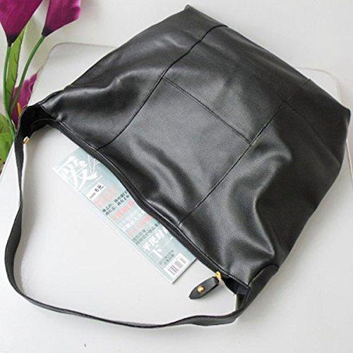 PU-lederner Schulterbeutel Art Und Weise Frauen Retro Große Tasche Diagonal Paket