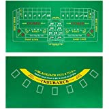 """Brybelly Double-Sided Craps Table & Blackjack Casino Felt 
