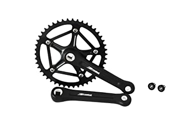 Prowheel Black Strong Forged 46t Crank Set Single