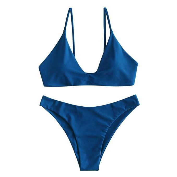 Amazon.com: ZAFUL traje de baño de mujer con cordones, traje ...