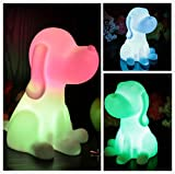 NIUDB Cute Cordless Dog Shape Color Changing LED Lamp Decoration Mood Night Light for Children (dog) For Sale