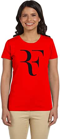 PTB W-NK273 Red T-Shirts Printed Short Sleeve For Women