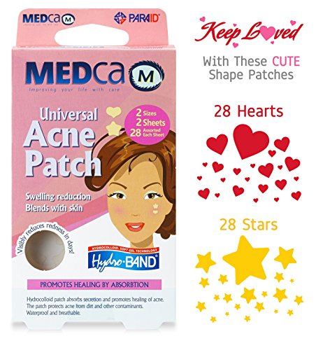 Universal Sterile (MEDca Universal Acne Pimple Patch Absorbing Cover Heart And Star Shapes TOTAL OF 56 PATCHES)